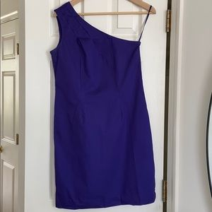 Gap Purple One Shoulder Dress